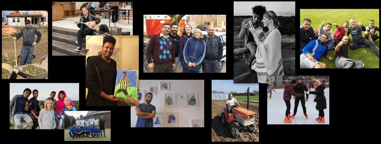 Arnhem refugees collage.